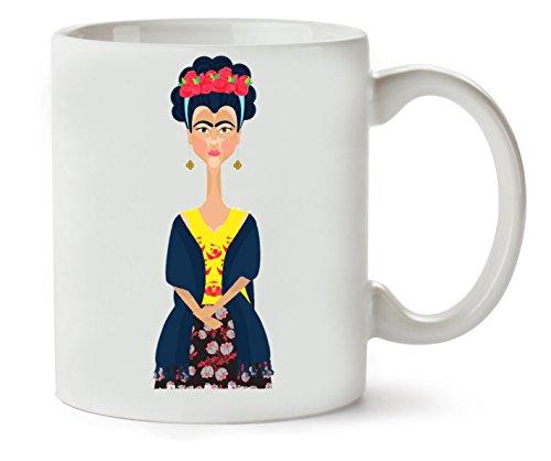 1GD Frida Kahlo Portrait Taza para Café Y Té