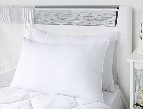 "Ahmedabad Cotton Standard Microfibre Pillow - 17""x27"", White"