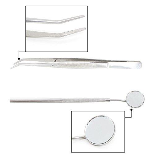 Xcellent Global Kit de 5 outils médicals d'hygiène dentaire de grande qualité, instruments professionnels de dentiste en Acier inoxydable av... 23