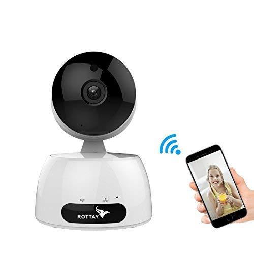 Telecamera di Sorveglianza IP camera wifi Rottay 720P HD wireless,Obiettivi Ruotabile, Audio Bidirezionale, Modalitš€ Notturna a Infrarossi, Controllo Remoto, Compatibile con iOS e Android e PC