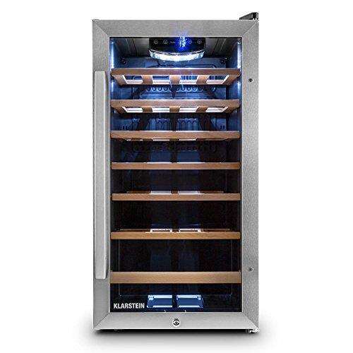 Klarstein Vivo Vino 26 • frigorifero per vini e bevande • 88 L • 26 bottiglie •...