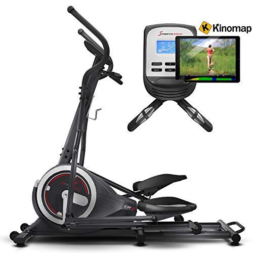 Sportstech Vélo elliptique professionnel CX630 Crosstrainer ergomètre d'intérieur, poids d'inertie 21KG, 4 x FCM, 20 programmes d'entraînement, 24 niveaux de résistance, cainture cardio optionnelle