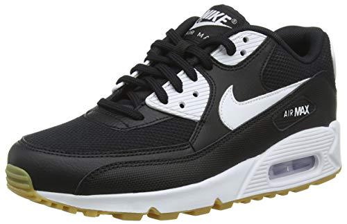 Nike Wmns Air MAX 90, Zapatillas para Mujer, Negro (Black Gum Light Brown-White 055), 39 EU