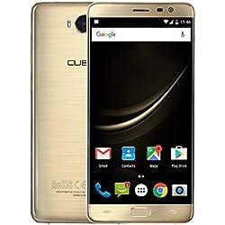 "CUBOT A5 Octa-Core Smartphone Libre 4G Android 8.0 3GB RAM+ 32GB ROM 5.5"" FHD 1920x1080 Dual SIM, Cámara 13Mp+8Mp 3000mAh Sensor de Huella GPS + Giroscopio Cable Type C Color Oro"