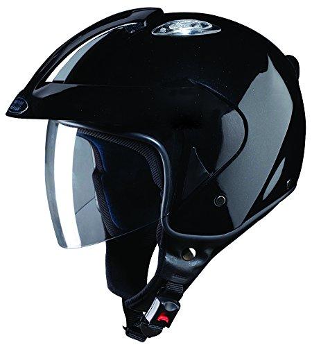 Studds KS-1 Metro SUS_KS1PFH_BLKL Open Face Helmet (Black, L)