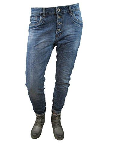 Denim Stretch Baggy-Boyfriend-Jeans boyfriend 4 Knöpfe offene...