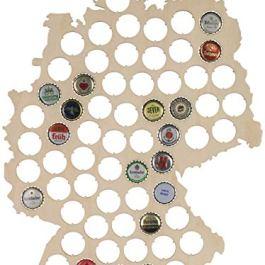 "'Carta di birra in legno in taglia L–Tappi Sammler im ""Germania design&#8211"