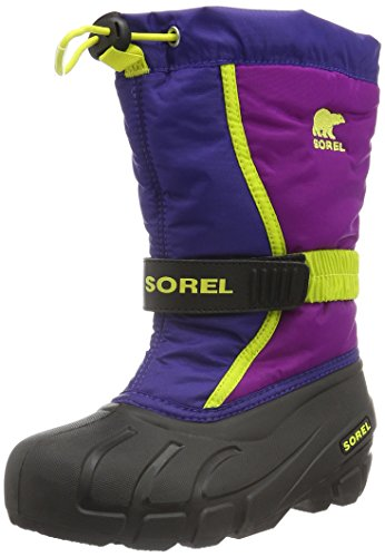 Sorel Youth Flurry, Stivali da Neve Unisex-Bambini, Multicolore (Grape Juice/Bright Plum), 34 EU