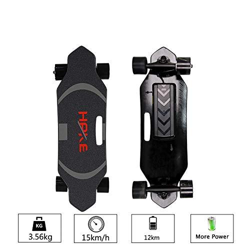 FATSW Skateboard Elettrico Longboard con Telecomando, velocità Regolabile velocità Massima 15km/h,...