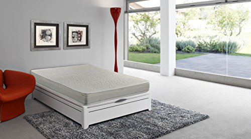 HR foam mattress, 90 x 190 x 16 cm, double-sided comfort, reversible, anti-dust mite - SmartCell (Other sizes available)