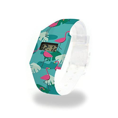 TROPICAL HEAT Pappwatch / Paperwatch / Digitale Armbanduhr aus Tyvek, absolut reißfest und wasserabweisend