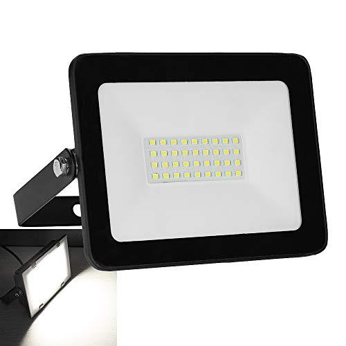 Faro a LED da 30 W, per esterni e interni, 2550 lm, IP65, impermeabile, bianco freddo, faretto da...
