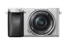 Sony Alpha A6300 - Cámara compacta con Montura Tipo E (Sensor APS-C CMOS Exmor R, procesador BIONZ X DE 24,2 MP, 425 Puntos AF y Grabación 4K), Plata - Cuerpo + Objetivo SELP1650