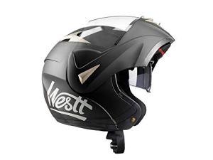 Westt® Torque · Schwarzer Motorradhelm mit Doppelvisier für Männer und Frauen · Klapphelme mit ECE-Zulassung 13