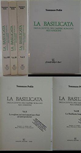 J 8399 N. 3 VOLUMI IN ASTUCCI LA BASILICATA DALLA CADUTA DELL'IMPERO ROMANO AGLI ANGIONI DI TOMMASIO...
