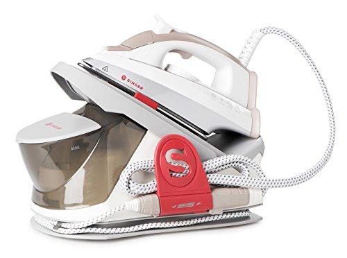 Singer SSG 8000 - Ferro da stiro professionale a vapore con caldaia a ricarica continua, 4,5 Bar -...