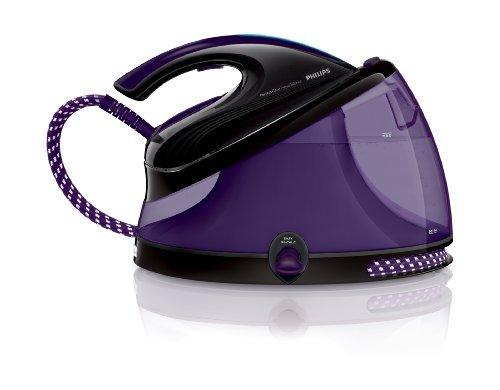 Philips PerfectCare Aqua Silence - Centro de planchado, autonomía ilimitada, OptimalTemp, 6,2 bares, vapor continuo de 120 g/min, 2,5 l, color morado [Descuento directo de 20€ al tramitar el pedido].