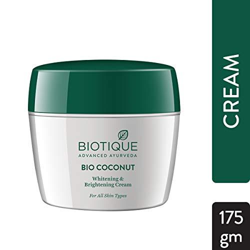 Biotique Coconut Whitening And Brightning Cream, 175g