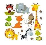 Pegatinas infantiles transfer parche termoadhesivo animales zoo para pijamas, sudaderas, camisetas, canastillas...23 x 23 cm. de OPEN BUY