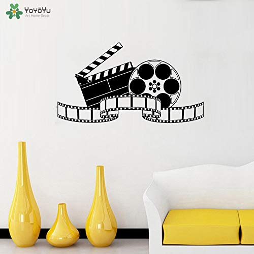 Ajcwhml Fotomurale Filmare Cinema cinematografico Film Adesivi murale per Film Cinema Home Theatre Art Poster Murale 42X76CM