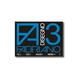 Fabriano Disegno 3-24×33 cm – Nero – 125 g/mq – 10 Fogli – 04001017