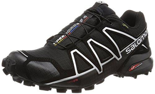 Salomon Speedcross 4 GTX, Zapatillas de Running para Hombre, Negro (Silver Metallic), 44 2/3 EU