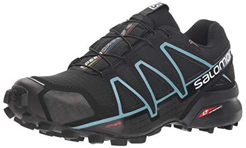 Salomon Speedcross 4 Gtx W, Zapatillas de Running Mujer, Negro (Black/Black/Metallic Bubble Blue), 38 2/3 EU