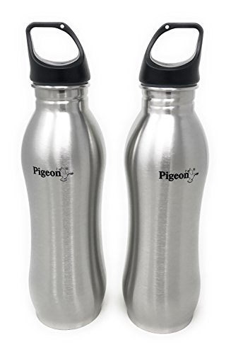 Pigeon By Stovekraft Stainless Steel Bling Water Bottle 750ml (Set Of 2)