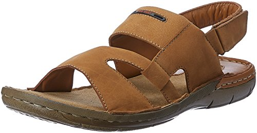 Red Chief Men's Rust Leather Sandals and Floaters - 6 UK/India (39 EU)(RC1359A)