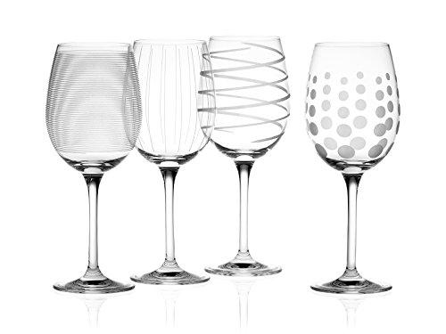 Creative Tops Mikasa 'Cheers' Inciso bicchiere di cristallo Bicchieri vino bianco Silver