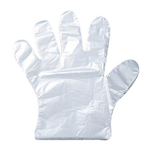 Leisial Guanti di plastica PE usa e getta, 500 pezzi, per catering, lavori fai da te, pulizie,...