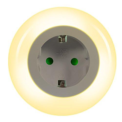 Emotionlite Luce Notturna LED con Sensore Crepuscolare Luce Notturna Integrato in Zoccolo Indicatore...