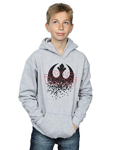 STAR WARS niños The Last Jedi Shattered Emblem Capucha 9-11 Years Gris Sport
