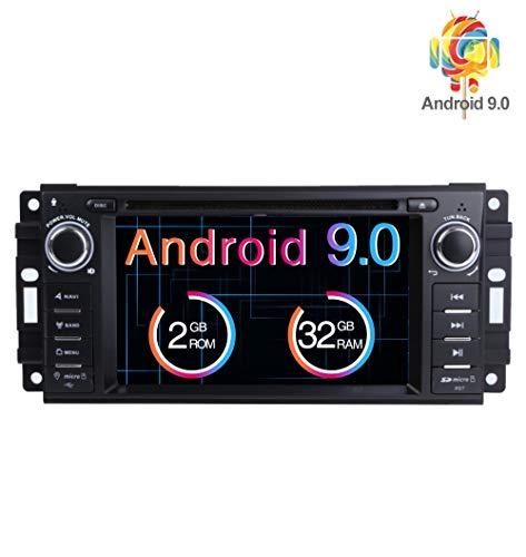 Freeauto Lettore DVD GPS stereo per auto Android 8.1 per unità Jeep Wrangler JK Ricevitore radio Indash per touch screen singolo DIN da 6,2'con navigazione Bluetooth / 3G / Telecamera posteriore