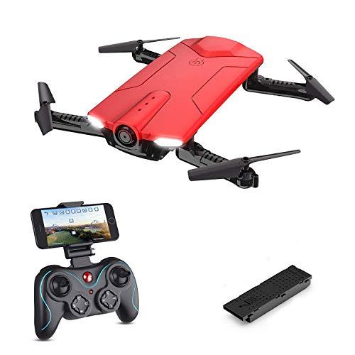 WRJI Nuovo Stile Mini FPV RC Drone con 720 P HD Wi-Fi Fotocamera Live Video Feed 2.4 GHz 6 Assi Gyro...