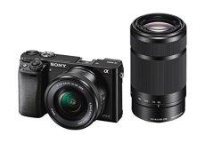 """Sony A6000 - Cámara EVIL de 24 Mp (pantalla LCD 3"""", estabilizador óptico, vídeo Full HD, WiFi), negro - Kit cuerpo con objetivos 16 - 50 mm y 55 - 210 mm"""