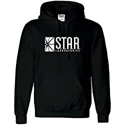 Inspired Star laboratorios hoodie-the Flash serie de televisión s.t.a.r. Labs sudadera con capucha Top negro negro Small