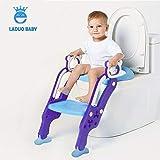 Toilettentensitz kinder, LADUOKinder Toiletten-Trainingssitz mit rutschfester Trittleiter-Leiter, justierbarer Töpfchen-Sitz mit Schritt, Toilettensitz-Stuhl, für Kleinkinder,und Jungen, Mädchen