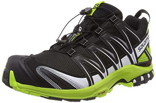Salomon XA PRO 3D GTX, Scarpe da Trail Running Uomo, Nero (Black/Lime Green/White), 43 1/3 EU