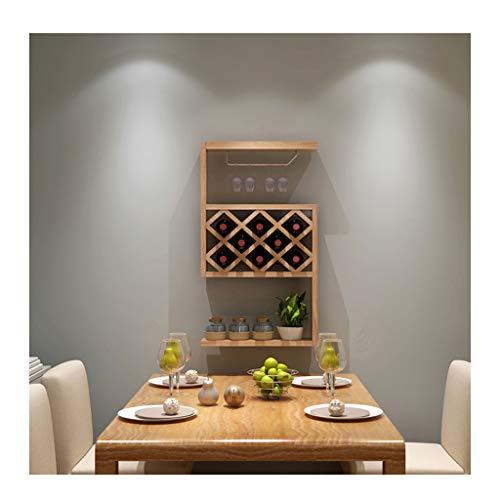 Portabottiglie vino legno Portabottiglie da parete di piccole dimensioni, appeso a parete, armadio...