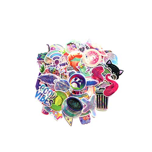 70 Pz Cartoon Fantasy Colorful Stickers 4-8cm Colorful Valigia Trolley Custodia Valigia Laptop...