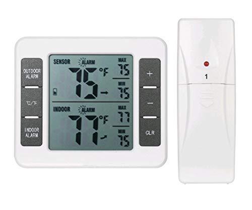 Termometro per frigorifero digitale LCD di grandi dimensioni, termometro per congelatore, termometro...