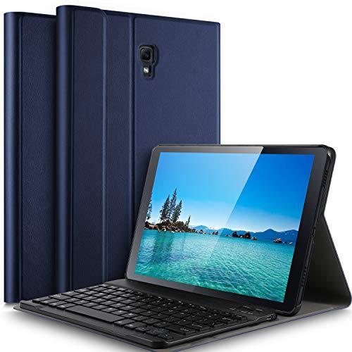 IVSO Tastatur Hülle für Samsung Galaxy Tab A 10.5 SM-T590/T595,[QWERTZ Deutsches], magnetisch abnehmbar Tastatur für Samsung Galaxy Tab A SM-T590/SM-T595 10.5 Zoll 2018, Blau