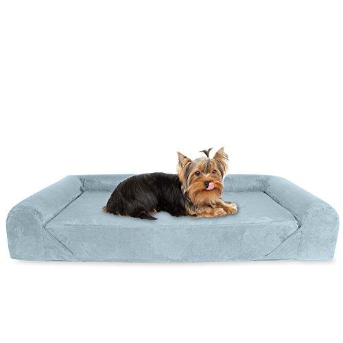 KOPEKS Sofa-Bed-Grey-Small-Medium Deluxe Ortopedico Memory Foam Divano Lounge del Cane, Piccolo, Grigio