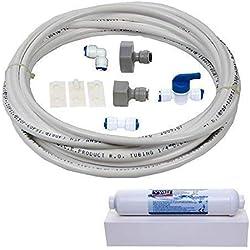 """Vyair DA97-01469D Kit de conexión de filtros de agua para Samsung nevera con dispensador integrado de hielo y agua (y cartucho compatible con WSF-100 y 10 metros de tubo - diámetro 1/4""""/ 6,4 mm)"""
