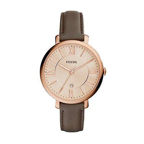 Fossil Damen Analog Quarz Uhr mit Leder Armband ES3707