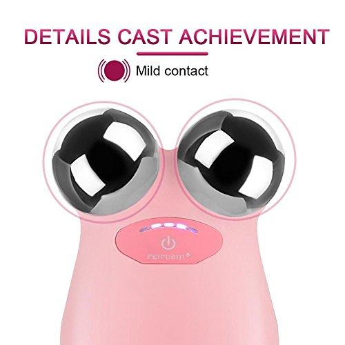 Elektrische Micro-current Vibration Y Shape 3D Roller Face Massager Lifting Tighten Device, Facelift Massagegerät Faltenschwellung Entfernung Hautpflege Gerät - 4