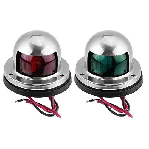 EBTOOLS 2Pcs Luce di navigazione,Lampadina a LED per segnalazioni di navigazione a LED in acciaio...
