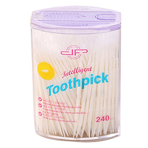 Cure-dents monouso in plastica Cure-Dent Dense toothpicks Spazzole interdentali dentali Pulizia dei Denti Strumento di Cura di Buccal Facile Bianco x 50pcs Prodotti per casa/Giardino