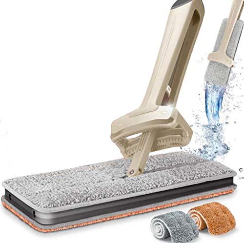 Necesidad diaria de limpieza de mopa plana herramienta de limpieza de doble cara, perezosa, sin manos, desbrozadora, varilla de empuje puede girar la protección del medio ambiente nuevo material de PP